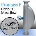 Endress+Hauser has highest accuracy Coriolis flowmeter